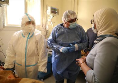 وزيرة الصحة خلال جولتها في سوهاج