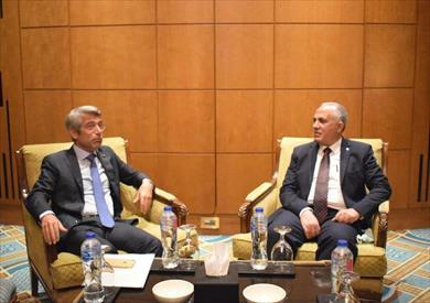 وزير الري مع نظيره اللبناني