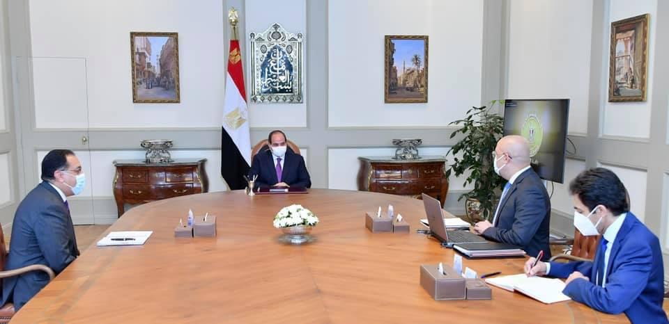 السيسي في اجتماعه مع وزير الإسكان