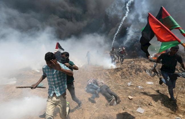 إصابات بالاختناق خلال قمع الاحتلال الإسرائيلي مسيرة منددة بالاستيطان جنوب نابلس