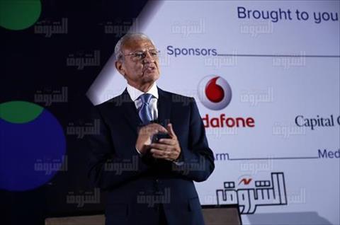 الدكتور عاطف حلمي وزير الاتصالات الأسبق - تصوير: إبراهيم عزت