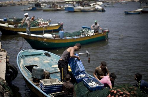 الحياة تعود إلى شواطئ غزة خلال الهدنة المصرية -تصوير:(ا.ف.ب)