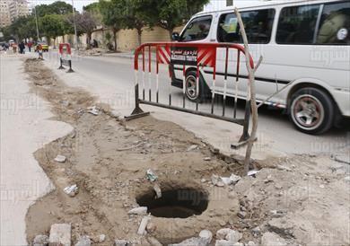 هبوط ارضي فى الاسكندرية تصوير اميرة مرتضي