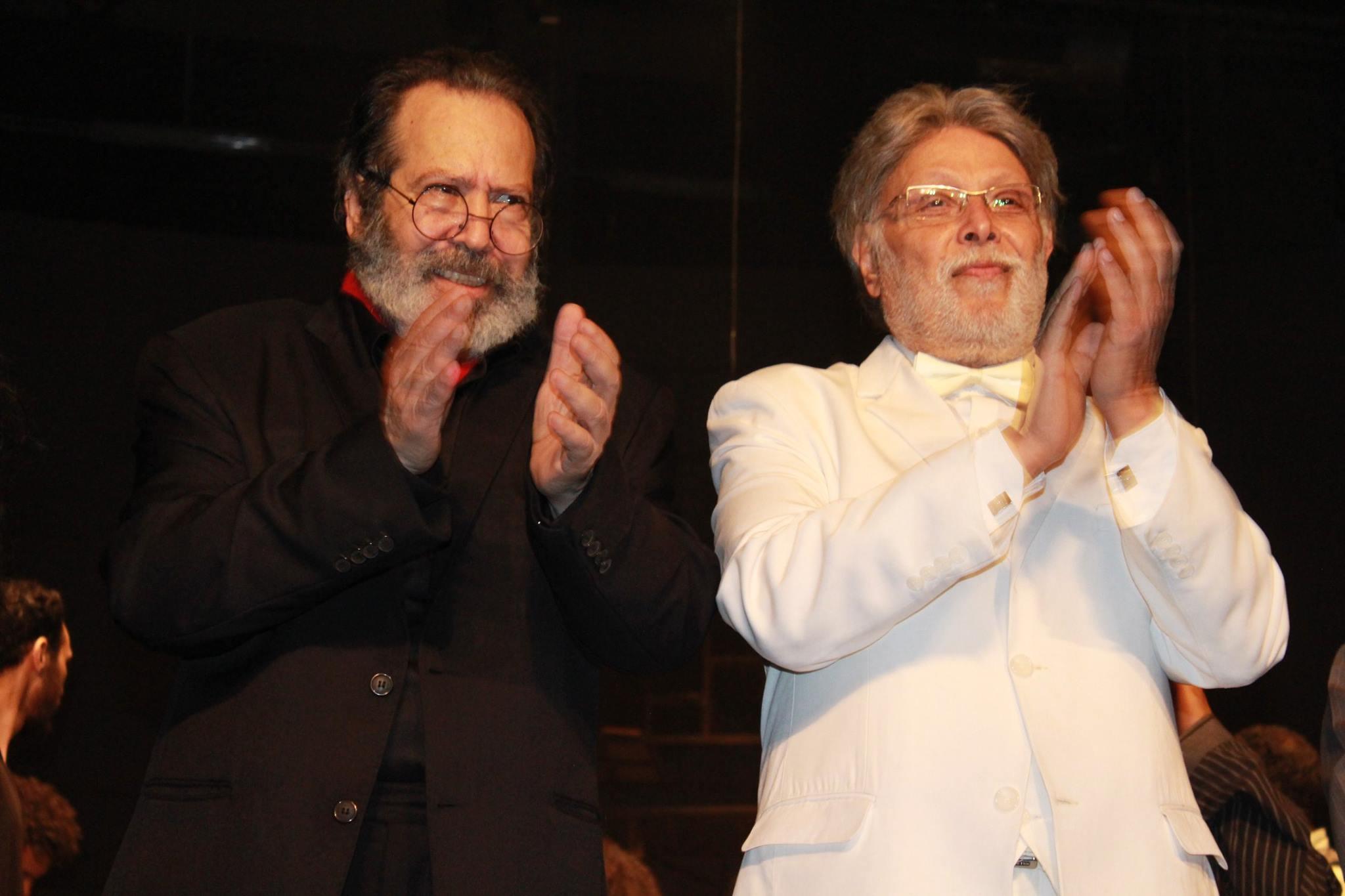 «النمنم» و«جلال» يشاهدان «المحاكمة» في ليلة الاحتفال بالمسرح العالمي