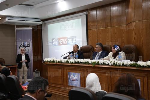بالصور.. بتمويل وتنفيذ إماراتي.. افتتاح استديو «جيهان رشتي» بـ«إعلام القاهرة»