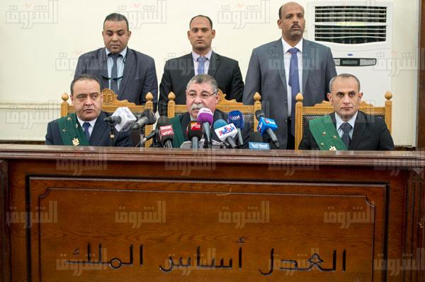 محاكمة حبيب العادلي في فساد وزارة الداخلية - تصوير: أحمد عبد الفتاح<br/>