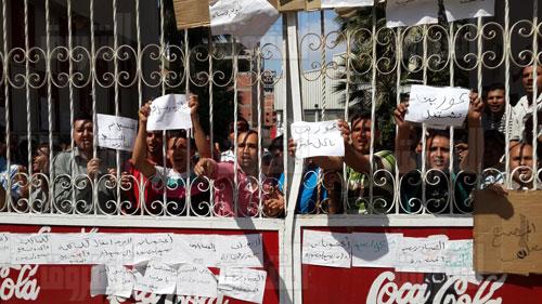 أعتصام العاملين بمصنع كوكولا بطلخا - تصوير: نعمان سمير
