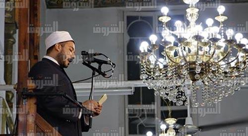 خطبة الجمعة في مسجد السيدة نفيسة بحضور وزير الأوقاف - تصوير: أحمد عبد الفتاح