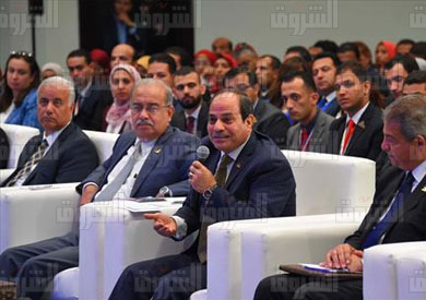 السيسى فى مؤتمر الشباب تصوير محمد الميمونى