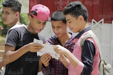 امتحانات الشهادة الإعدادية بالقاهرة - تصوير: إبراهيم عزت