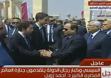 """بدء الجنازة العسكرية للعالم """"أحمد زويل"""" بحضور """"السيسي"""""""