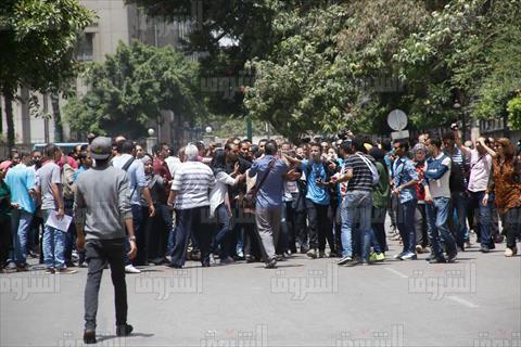 محيط نقابة الصحفيين قبل بدء الجمعية العمومية الطارئة- تصوير هبة الخولي
