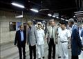 مدير شرطة النقل يتفقد محطات المترو استعدادا لعيد الأضحي