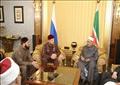 شيخ الأزهر والرئيس الشيشاني