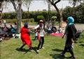 احتفالات المصريين بعيد شم النسيم في حديقة الأزهر - تصوير : لبنى طارق