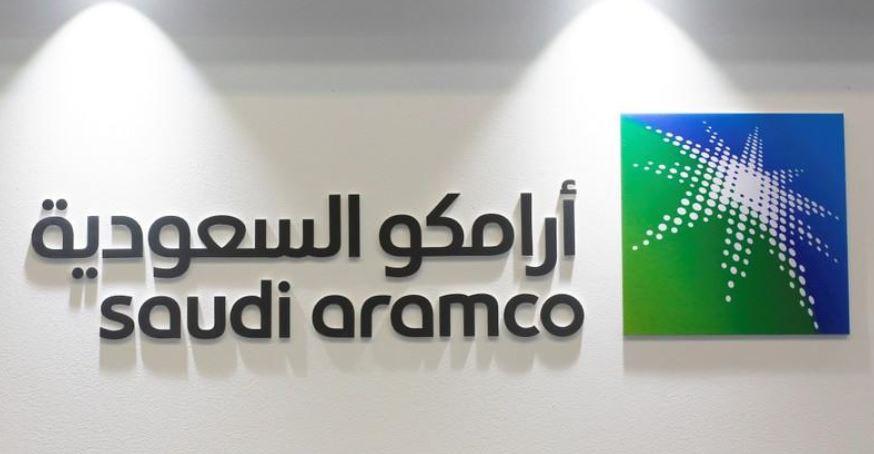 شعار شركة أرامكو السعودية في صورة من أرشيف رويترز