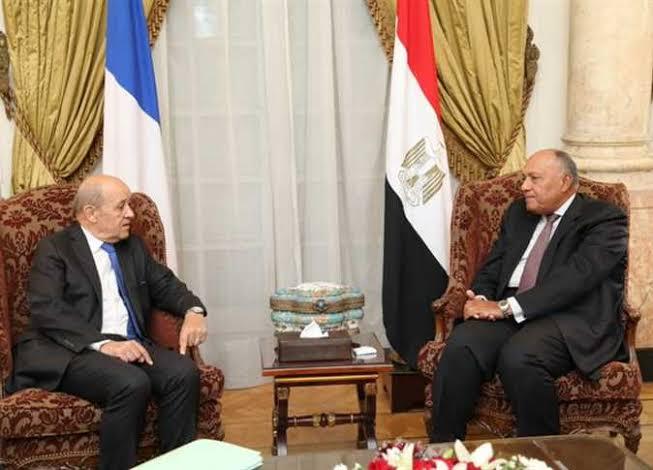 وزير الخارجية يؤكد لنظيره الفرنسي أهمية وقف الهجوم الإسرائيلي على غزة