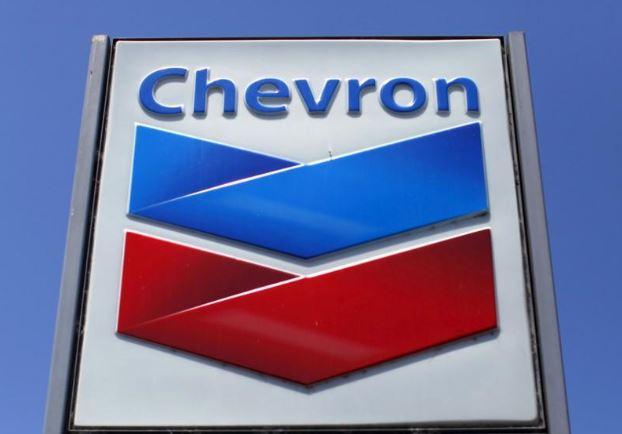 شعار شركة شيفرون بولاية كاليفورنيا الأمريكية في صورة من أرشيف رويترز.