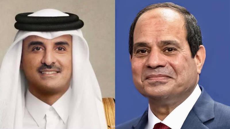 الرئيسي السيسي وأمير قطر