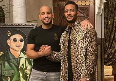 محمد رمضان والملاكم المغربي أبو زعيتر