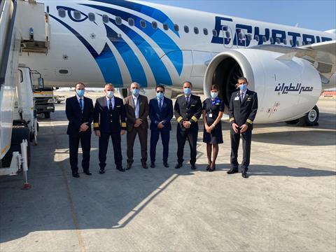 مصر للطيران تتسلم الطائرة الخامسة من طراز إيرباص A320 Neo