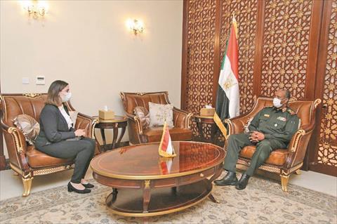 جانب من حوار رئيس مجلس السيادة السوداني للشروق