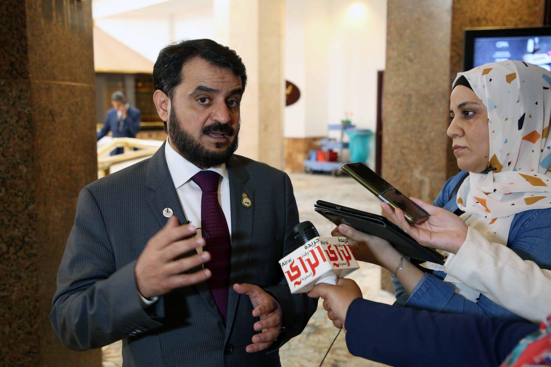 رئيس لجنة الشؤون الخارجية والسياسية التابعة للبرلمان العربي  .محمد الحويلة. تصوير مجدى ابراهيم