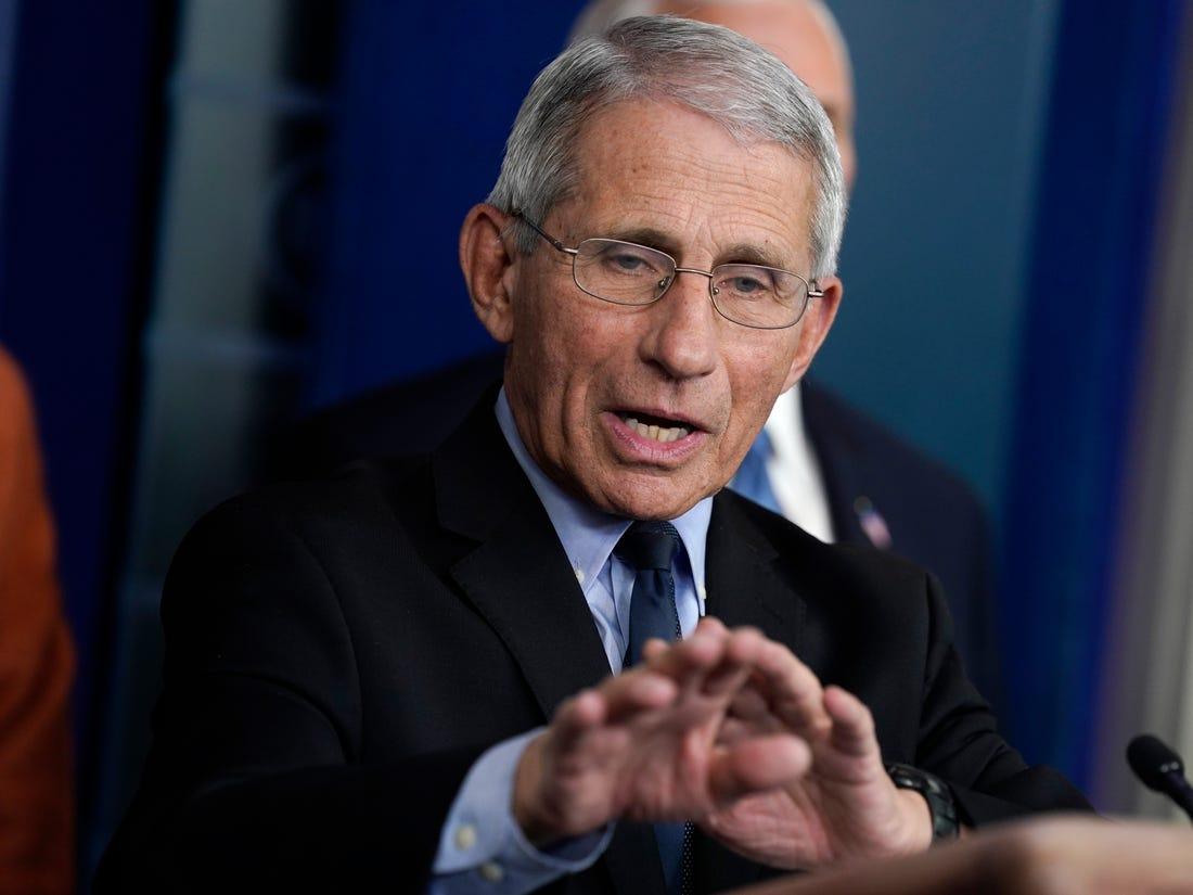 أنتوني فوتشي، مدير المعهد الوطني للحساسية والأمراض المعدية بأمريكا