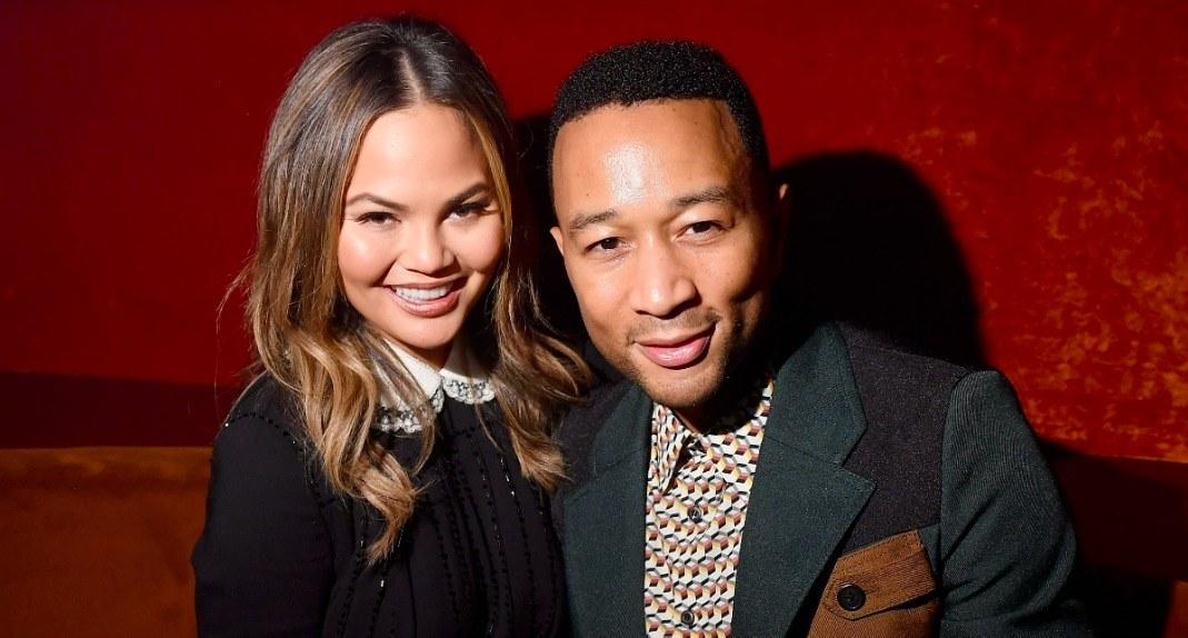 كريسي تيجان مع زوجها المغني جون ليجند