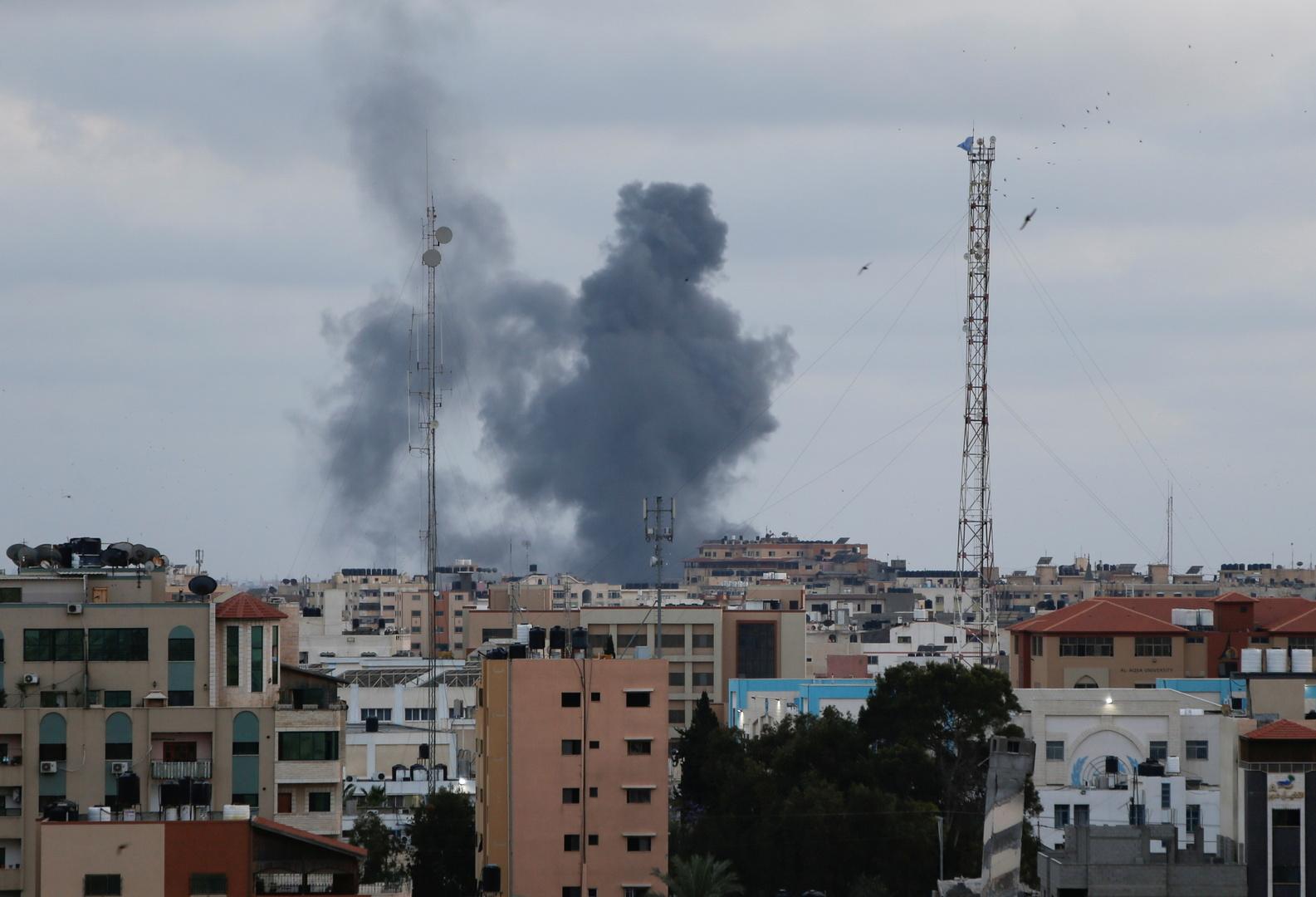فيديو.. سقوط ضحايا بانفجار ضخم وسط مدينة غزة