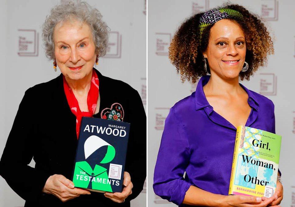 الكاتبة الكندية مارجريت آتوود والكاتبة البريطانية برناردين إيفاريستو