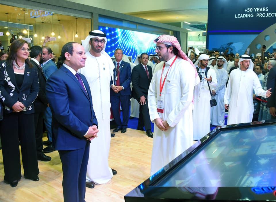 جولة الرئيس السيسي في معرض أبو ظبي الدولي للبترول