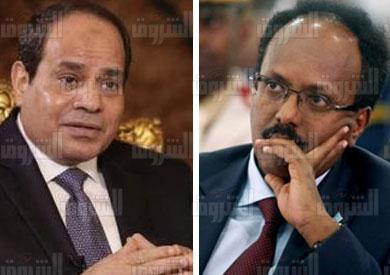 الرئيس عبدالفتاح السيسي و نظيره الصومالي محمد عبدالله