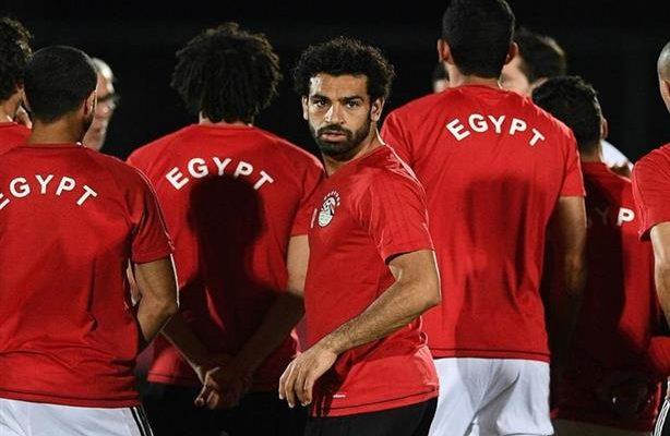 محمد صلاح مع المنتخب الوطني