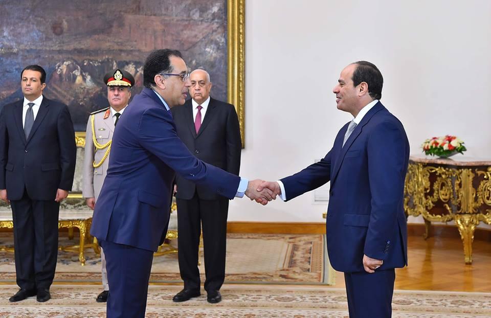 مصطفى مدبولي بعد اداءه اليمين لتوليه رئاسة الوزراء