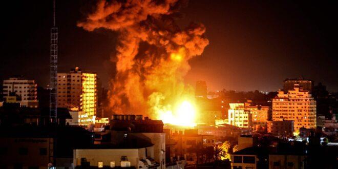 طائرات الاحتلال الإسرائيلي تقصف موقعا غرب خان يونس وآخر جنوب غزة