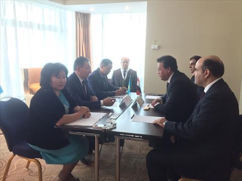 وزير التعليم العالي يبحث مع نظيره الكازاخستاني التعاون المشترك