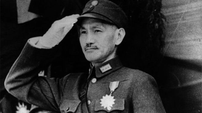 بعد انتصار الشيوعيين عام 1949 فر تشانغ كاي تشيك إلى تايوان وظل يحكمها بقضبة حديدية حتى وفاته عام 1975<br/>