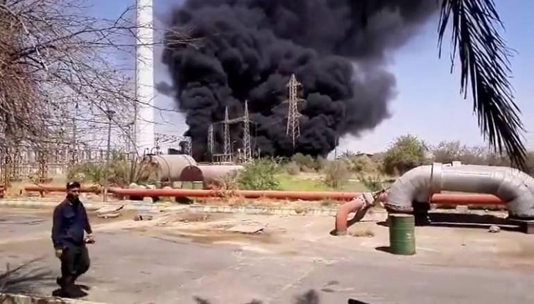 انفجار قاعدة نطنز الإيرانية العسكرية