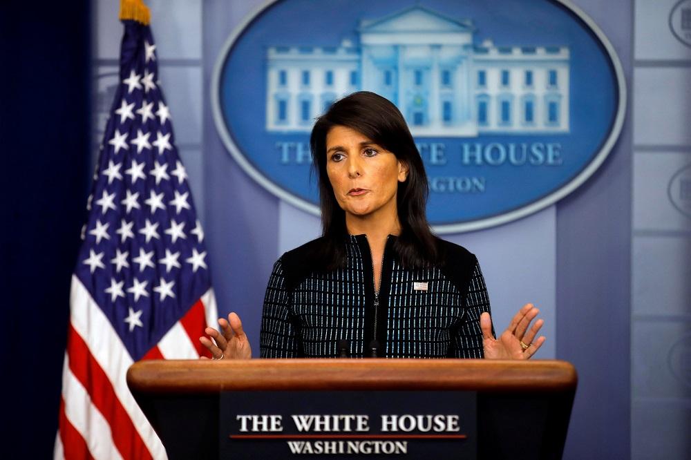 نيكي هالي السفيرة الأمريكية لدى الأمم المتحدة