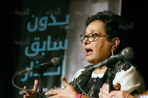 حفل توقيع ومناقشة «بدون سابق إنذار» لأنيسة حسونة بساقية الصاوي - تصوير: أحمد رشدي