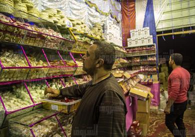 حلاوة المولد فى الاسواق تصوير ابراهيم عزت<br/>