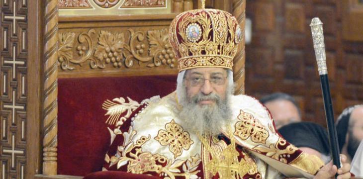 البابا تواضروس يترأس صلوات القداس بكنيسة العذراء والقديس سيدهم بشاى بدمياط