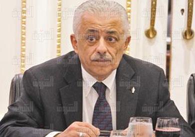 طارق شوقى وزير التربية والتعليم - تصوير لبنى طارق