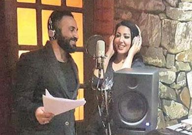 دويتو غنائي بين سمية الخشاب وأحمد سعد