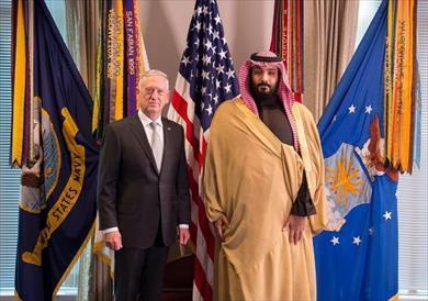 ولي العهد السعودي يبحث مع وزير الدفاع الأمريكي التعاون العسكري