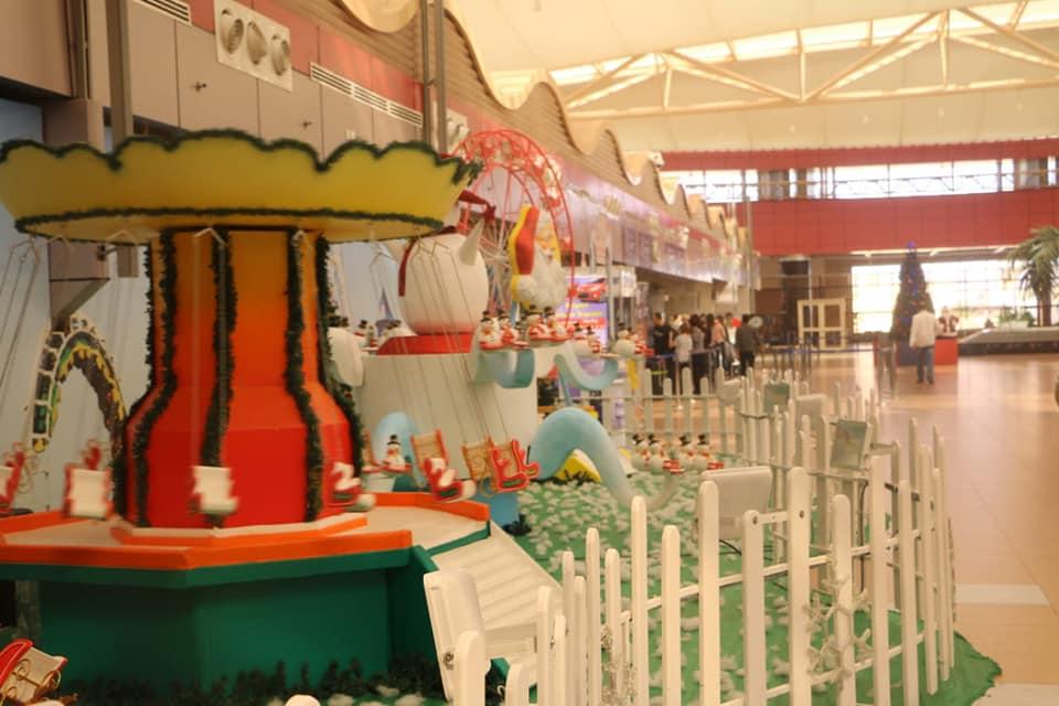 بالصور : مطار شرم الشيخ الدولي يتزين استعدادا لاستقبال رأس السنة الميلادية ٢٠١٩