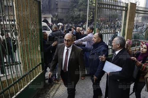 جلسة المحامى خالد على تصوير ابراهيم عزت<br/>