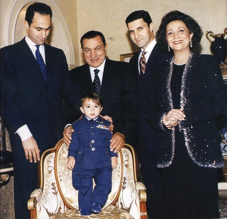 الرئيس المصري الأسبق حسني مبارك وأسرته