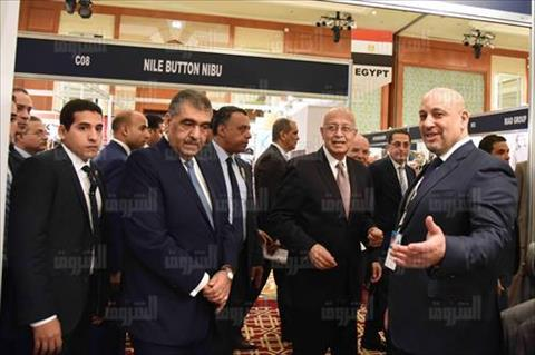 افتتاح معرض المنسوجات بحضور رئيس الوزراء تصوير سليمان العطيفى